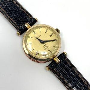 GUCCI Gold Dial Women's Round Quartz 21mm Watch